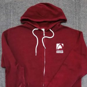 Crimson red hooded jacked embroidered for Agape Academy